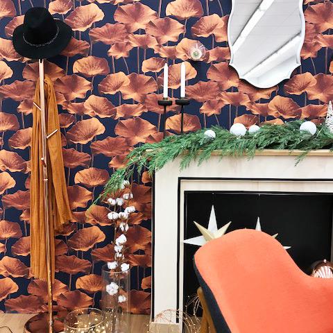 chimenea-papel-pintado-salon