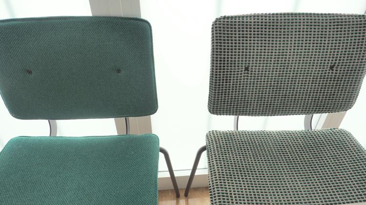 sillas-verdes-tapizadas
